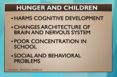 How hunger impacts a child's ability to learn
