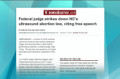 Reproductive rights supporters get NC victory