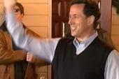Santorum positioned to grab evangelical...