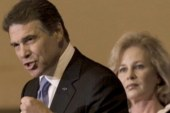 Rick Perry's wife steps up campaign