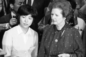 Thatcher met with admiration and criticism...