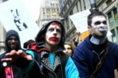 Americans express anger at Wall Street