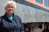 Woman granted wish to travel in train...