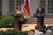 Ukraine primary topic in Obama-Merkel meeting