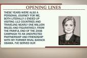 Reading into Hillary Clinton's new memoir