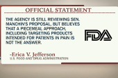 Manchin questions FDA approval process