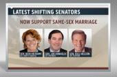 More Senate Democrats announce support for...