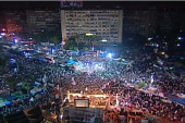 Morsi supporters continue sit-in at Cairo...