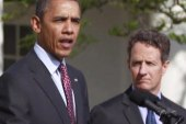 Geithner says goodbye to Treasury Dept.