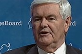 Gingrich hoping to distinguish himself...
