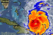 Hurricane Irene headed towards East Coast