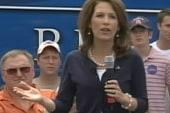 Bachmann passes Romney in Iowa poll
