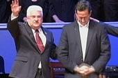 Santorum courts Evangelical voters