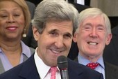 Kerry on damage control as he assumes...
