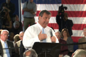 Christie gets first GWB question at town hall