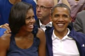 President, first lady share a moment on...