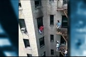 Man saved from burning apartment by good...