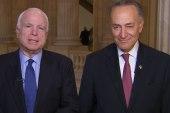 John McCain: Voting for background checks...