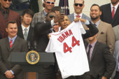 Mika had 'greatest day' with Red Sox at WH