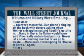 If Huma and Hillary emailed, what would...