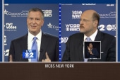 NYC mayoral debate gets heated over new ad