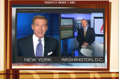 Brian Williams stays cool during fire alarm