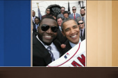 'Big Papi' and Obama selfie care of Samsung?
