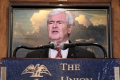 Newt Gingrich defends Bachmann on Abedin...