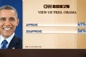 Obama numbers reach new low in CNN poll