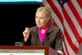 On the road with Hillary Clinton