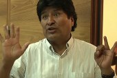 Plane carrying Bolivian president grounded...