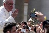 Pope Francis causes controversy in foot...
