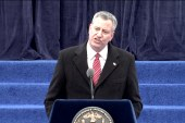 Snowstorm to be de Blasio's first challenge