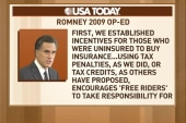 Romney under fire for 2009 health care...