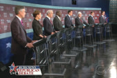 Cain stumbles, Romney talks tough at GOP...