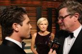 Joe and Mika at the Vanity Fair Oscar party