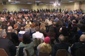 Christie answers Sandy questions at town hall