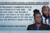 Trayvon Martin's parents uplifted by Obama...