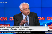 Sanders, Clinton on college affordability
