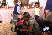 Sunny Obama knocks toddler over