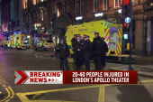 Injuries reported at London's Apollo Theatre