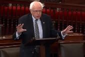 Sanders launches Senate floor speech...