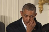 Obama tears up during gun control speech