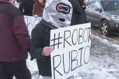 'Robot Rubio' protestors in NH
