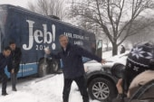 Jeb Bush throws snowball at NBC reporter