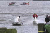 Water-skiing Santa and helpers get wild in VA