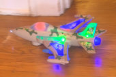 Toy plane makes sounds of Islamic prayer