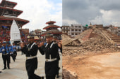 Iconic square in Nepal reduced to rubble