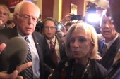 Bernie Sanders comes to Andrea Mitchell's aid