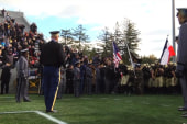 Army football takes field with French flag